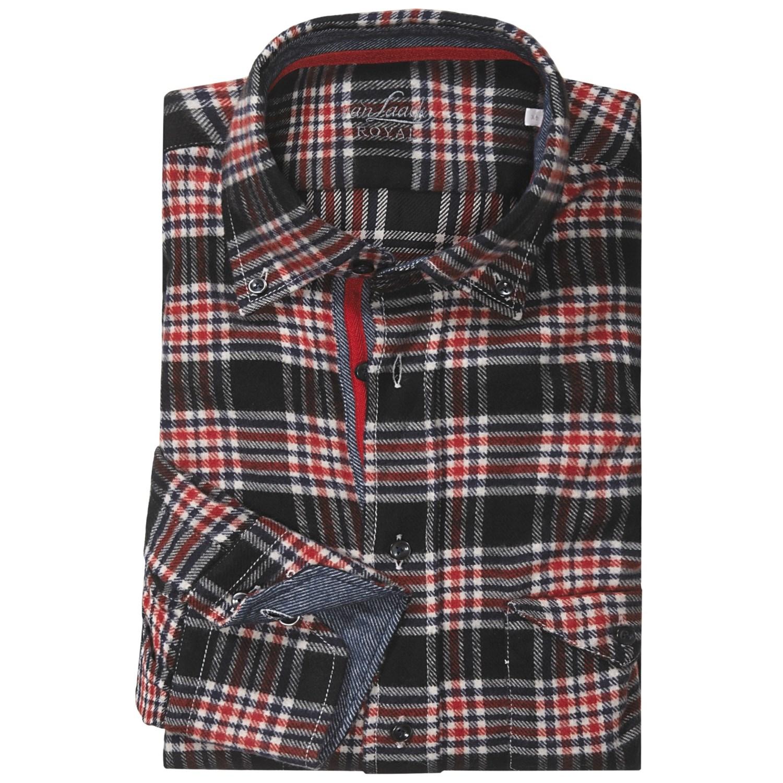 van laack tailor fit flannel sport shirt for men 5234g. Black Bedroom Furniture Sets. Home Design Ideas