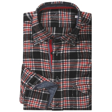 Van Laack Tailor Fit Flannel Sport Shirt - Long Sleeve (For Men)