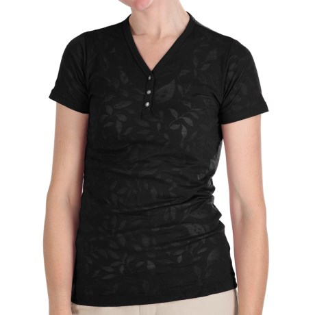 Kuhl Flora Burnout Henley Shirt - Short Sleeve (For Women)
