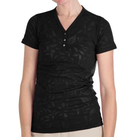 Kuhl Flora Burnout Henley Shirt - Short Sleeve (For Women)