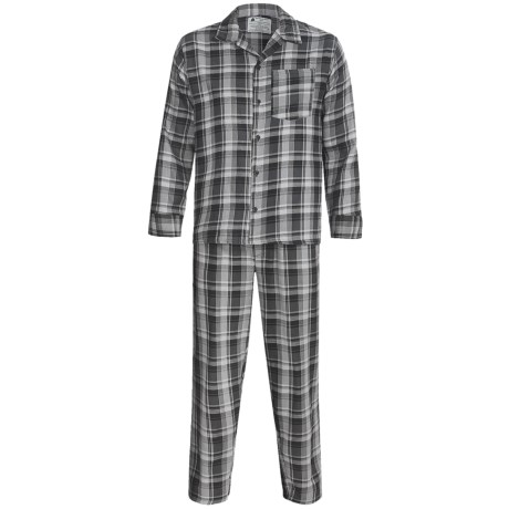 Northwest Blue Flannel Pajamas - Long Sleeve (For Men)
