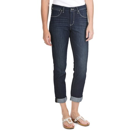 JAG Frances Roll Jeans - Refined Slub Denim, Slim Fit, Mid Rise (For Women)