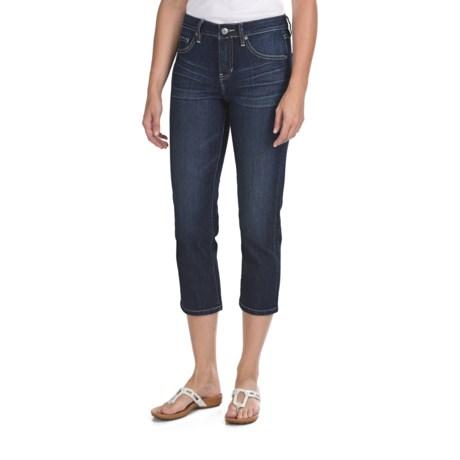 Jag Hannah Crop Pants - Refined Slub Denim, Mid Rise, Classic Fit (For Women)