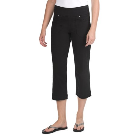 JAG Dahlia Crop Pants - Twill, Comfort Fit, Mid Rise (For Women)