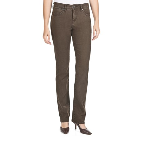 Jag Donovan Twill Mid-Rise Straight Pants (For Women)