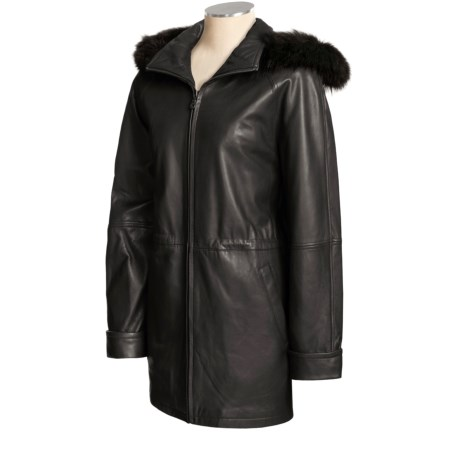 Tibor Leather Coat With Thinsulate® Liner - Lambskin, Multi-Season, Plus Size (For Women)