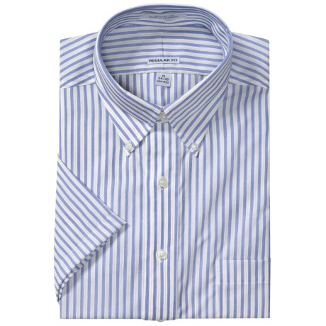 Button-Down Collar Sport Shirt - Short Sleeve (For Men)