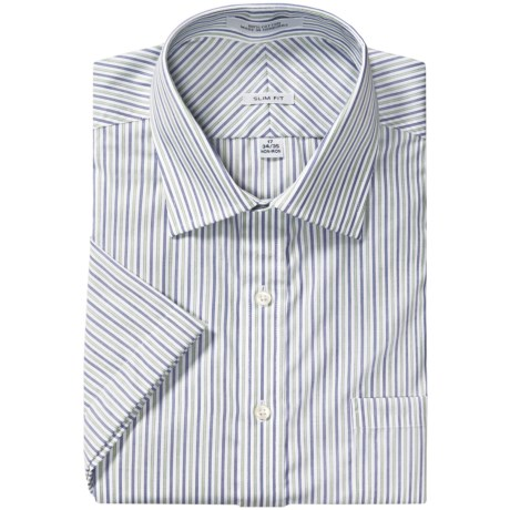 Slim Fit Sport Shirt - Short Sleeve (For Men)