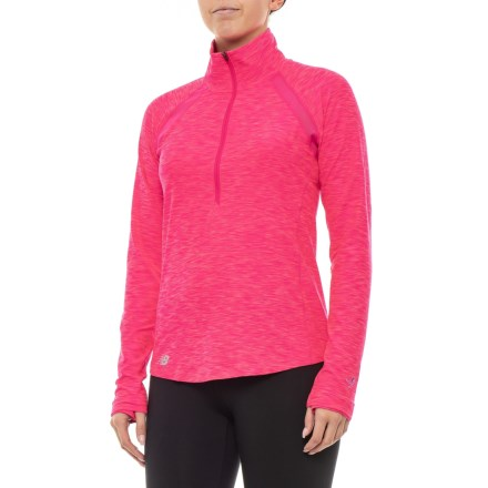 New Balance In Transit Jacket - Zip Neck (For Women) in Black - Closeouts