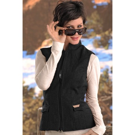 Powder River Outfitters Topeka Wool Vest - Double Princess Seam (For Women)
