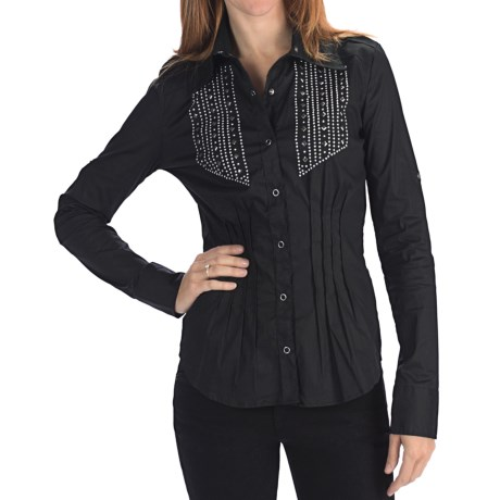 Rock & Roll Cowgirl Diamond Dome Western Shirt - Snap Front, Long Sleeve (For Women)