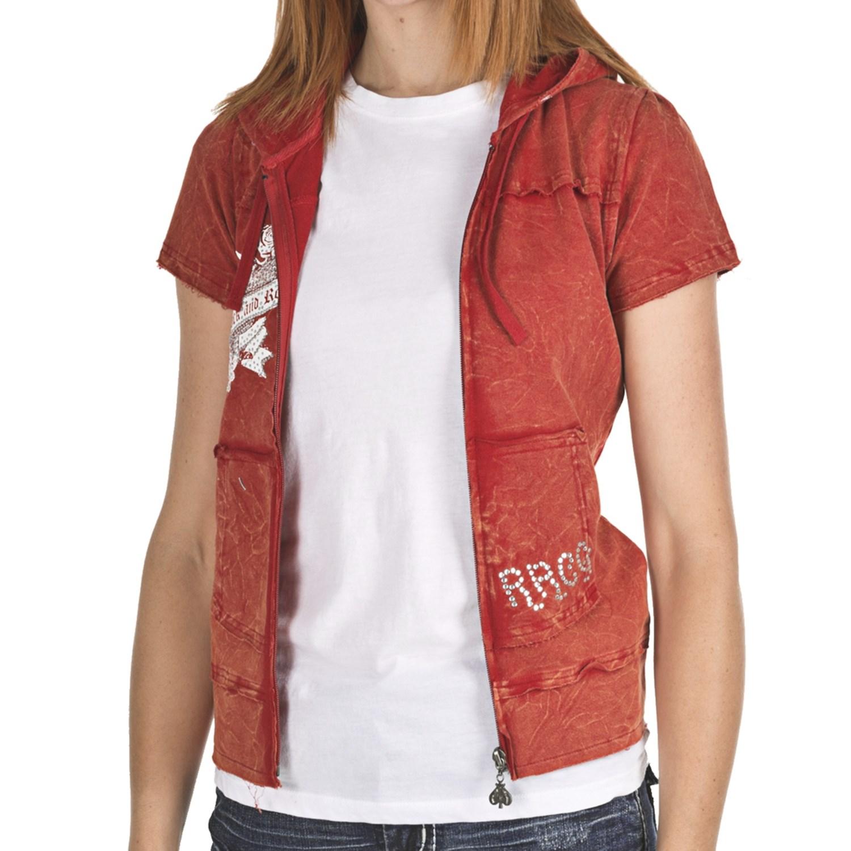 Rock & Roll Cowgirl Winged Heart Hoodie Sweatshirt (For Women