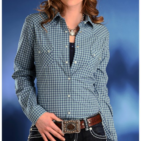 Rough Stock Potomac Check Western Shirt - Snap Front, Long Sleeve (For Women)