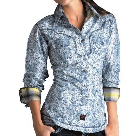 Panhandle Slim 90 Proof Paisley Shirt - Snap Front, Long Sleeve (For Women)