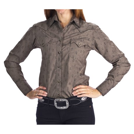 Brooks & Dunn by Panhandle Slim Jacquard Stripe Western Shirt - Snap Front, Long Sleeve (For Women)