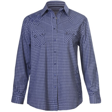 Rough Stock Highland Check Western Shirt - Snap Front, Long Sleeve (For Plus Size Women)