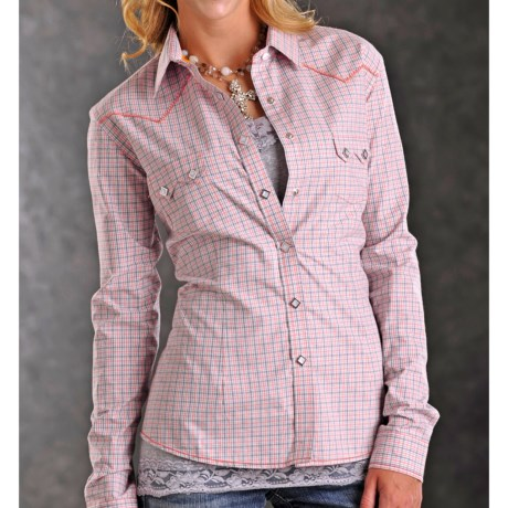 Rough Stock Stanford Vintage Check Western Shirt - Snap Front, Long Sleeve (For Women)