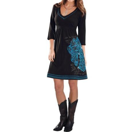 Rock & Roll Cowgirl Tribal Cross Dress - 3/4 Sleeve (For Women)