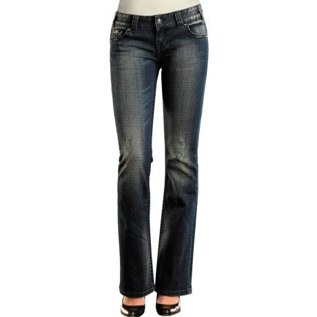 Rock & Roll Cowgirl Raised Cross Pocket Jeans - Denim, Low Rise, Bootcut (For Women)