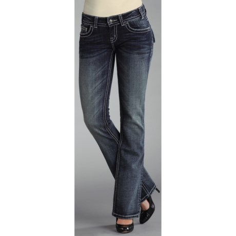 Rock & Roll Cowgirl Zigzag Stitched Jeans - Low Rise, Bootcut (For Women)