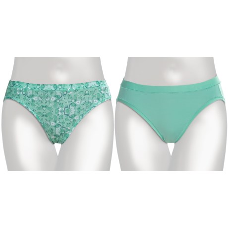 Hanes Microfiber Bikini Brief Underwear - 2-Pack (For Women)