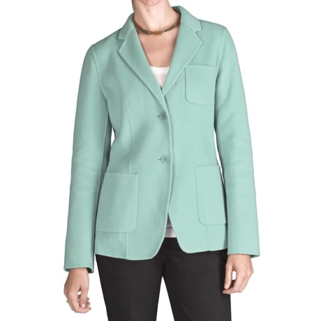 Double-Faced Wool Blazer (For Women)
