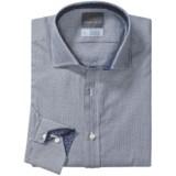 Thomas Dean Cotton Check Sport Shirt - Long Sleeve (For Men and Tall Men)