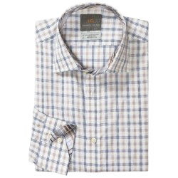 Thomas Dean Cotton Check Sport Shirt - Long Sleeve (For Men and Tall Men)