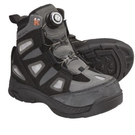 Korkers Guide K8700 Wading Boots - Felt Soles, Trail Lug Soles (For Men and Women)
