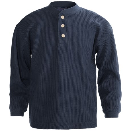 Specially made Thermal Henley Shirt - Long Sleeve (For Youth)
