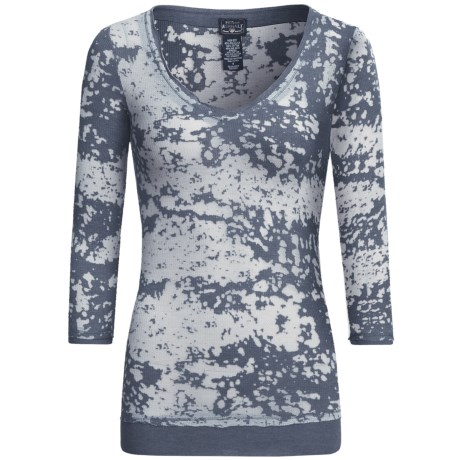 Specially made Burnout V-Neck Shirt - Long Sleeve (For Women)
