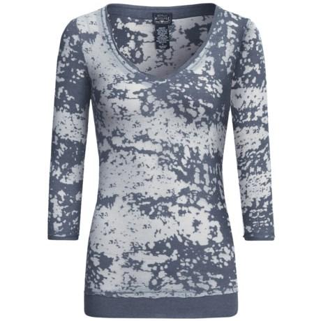 Burnout V-Neck Shirt - Long Sleeve (For Women)