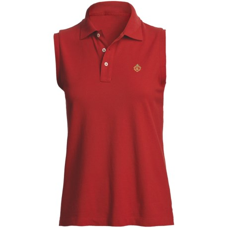 Pique Cotton Polo Shirt - Sleeveless (For Plus Size Women)