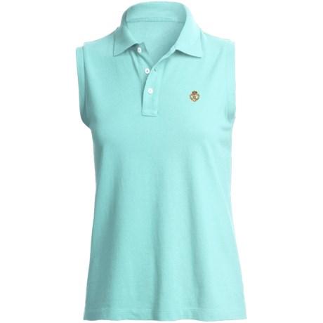 Pique Cotton Polo Shirt - Sleeveless (For Plus Size Women)