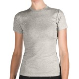 Specially made Heathered Crew Neck T-Shirt - Cotton, Short Sleeve (For Women)