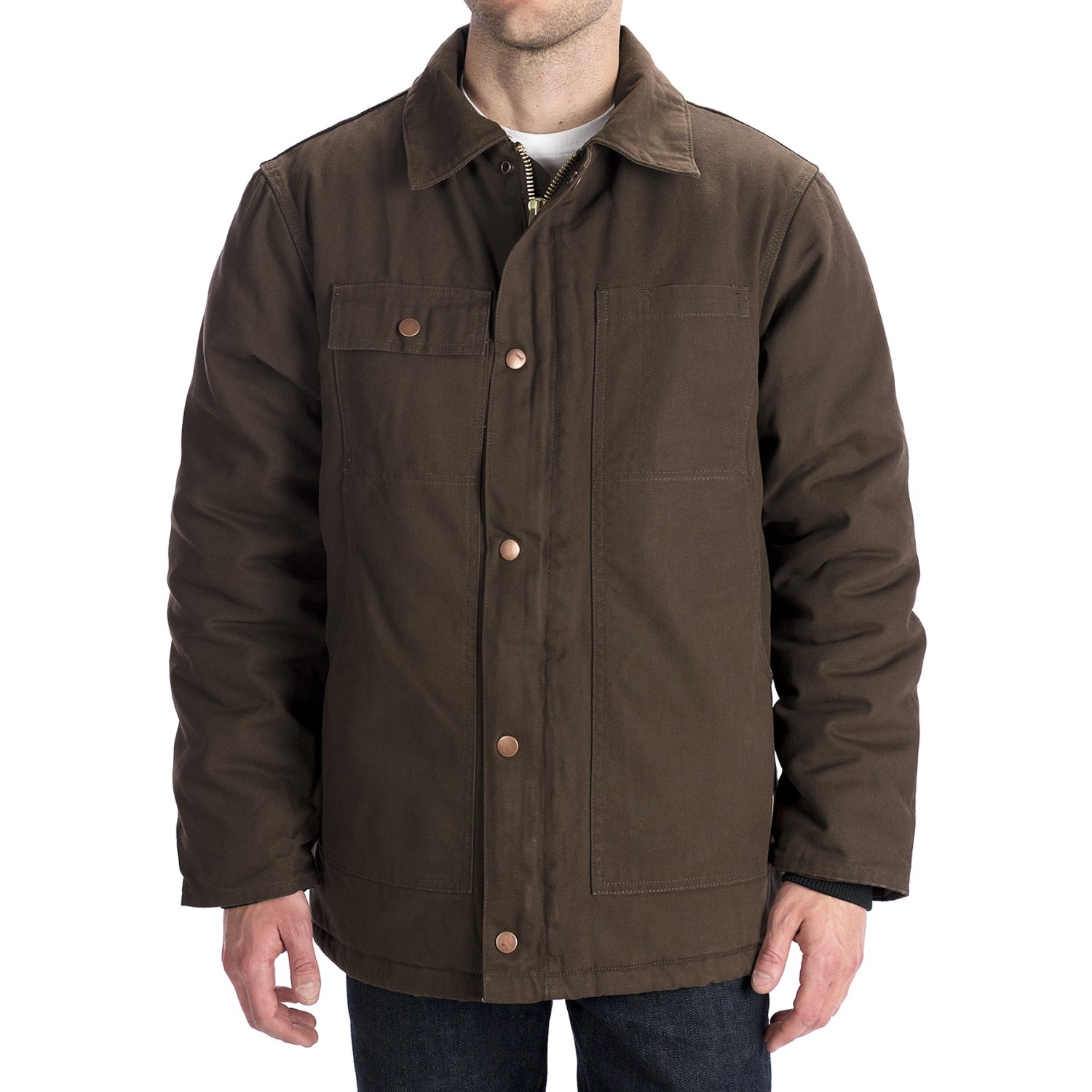 Work King Washed Canvas Parka Hooded Insulated For Men