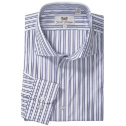 Hickey Freeman Stripe Sport Shirt - Long Sleeve (For Men)