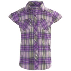 Columbia Sportswear Forest Tag Plaid Shirt - UPF 40, Short Sleeve (For Youth Girls)