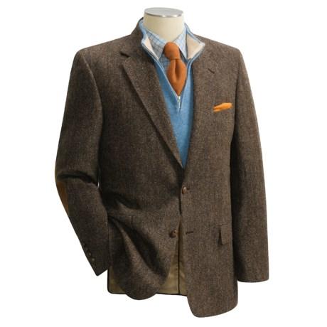 Bill Blass Harris Tweed Sport Coat with Elbow Patches (For Men)