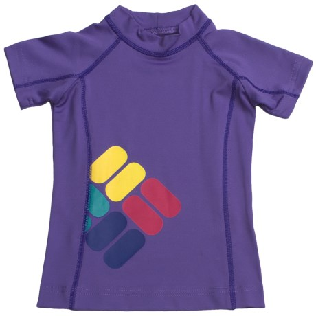 Columbia Sportswear Sun's Up Sunguard - UPF 50, Short Sleeve (For Little Girls)