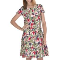 Bogner Danielle Silk Print Dress - Short Sleeve (For Women)