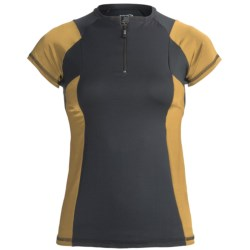 Body Up Ciao Zip Shirt - Short Sleeve (For Women)