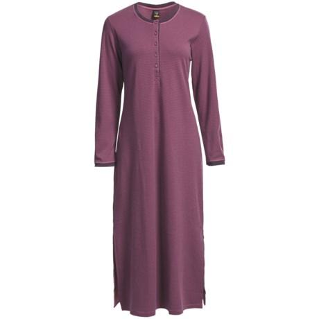 Calida Svea Heavy Interlock Cotton Nightshirt - Long Sleeve (For Women)