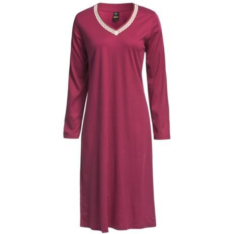 Calida Emilia Cotton Nightshirt - Long Sleeve (For Women)