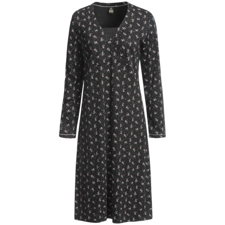 Calida Anouschka Swiss Cotton Nightshirt - Long Sleeve (For Women)