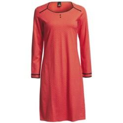 Calida Anni Single Jersey Big Shirt - Long Sleeve (For Women)