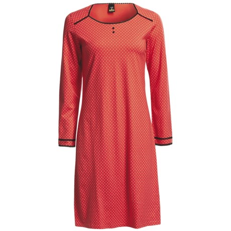 Calida Anni Single Jersey Big Shirt - Long Sleeve (For Women)