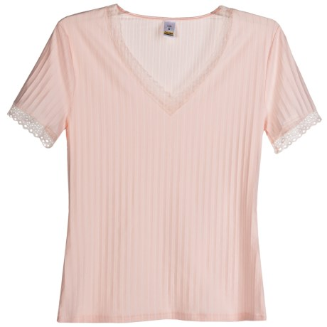 Calida Etude Trend Shirt - V-Neck, Short Sleeve (For Women)