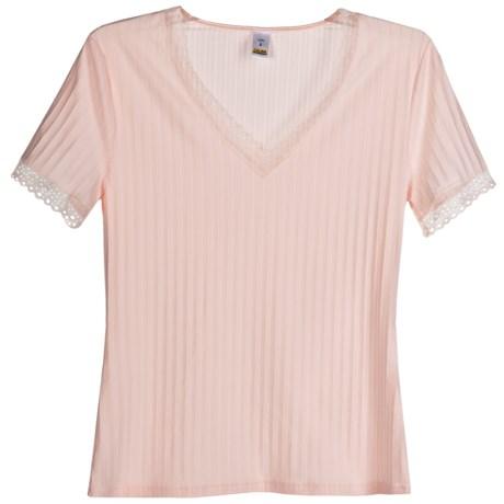 Calida Etude Trend Shirt - V-Neck, Short Sleeve (For Women)
