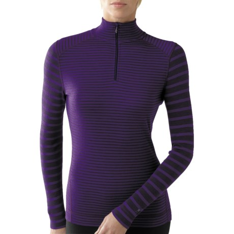 SmartWool NTS Pattern Zip Neck Base Layer Top -Merino Wool, Midweight, Long Sleeve (For Women)